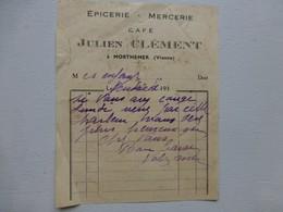 MORTHEMER (86) Julien Clément, Facture Ancienne Vers 1930 ; PAP05 - Frankreich
