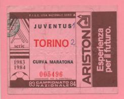 Biglietto D'ingresso Stadio Juventus Torino 1983/84 - Biglietti D'ingresso