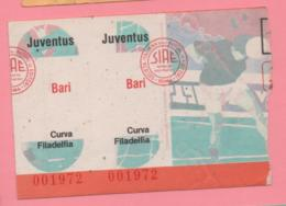 Biglietto D'ingresso Stadio Juventus Bari - Biglietti D'ingresso
