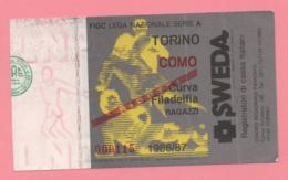Biglietto D'ingresso Stadio Torino Como 1986/87 - Biglietti D'ingresso