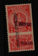 Revenue - Convencionista 5 Cent. Federal & Ciudad Juarez Overprint With Talon MH - Messico