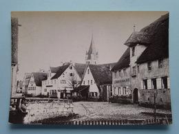 Markt FEUCHT Hauptstrasse Mit Gauchsbachbrücke UM 1898 ( Kopie Druck Schobert Nürnberg ) Anno 19?? ( See Photo ) ! - Nuernberg