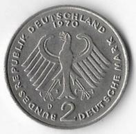 Germany Federal Republic 1970D 2 Marks Adenauer [C228/1D] - 2 Mark