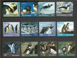 Année 2001. Faune De L'Antarctique. Manchots. Territoire De Ross. 12 Timbres Neufs **  Côte 30,00 Euro - Antarctic Wildlife