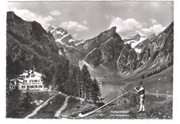 Schweiz - Alphornbläser Am Seealpsee - Mit Altmann - Rossmad - Säntis - Alte Ansicht - AI Appenzell Innerrhoden