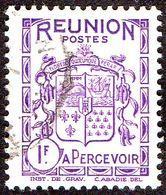 Réunion Obl. N° Taxe 23 - Armoiries Le 1f Violet - Réunion (1852-1975)