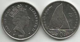 Isle Of Man 10 Pence 1997. - Isle Of Man