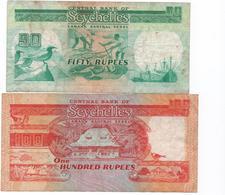 SEYCHELLES -1989 - 2 Billets  ( 50 Et 100 Rupees )   Circulés - Seychelles