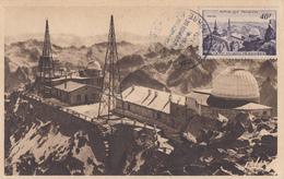 Carte  Maximum  1er  Jour   FRANCE   Observatoire  Du  Pic  Du  Midi    1951 - Cartes-Maximum