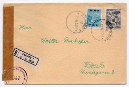 21.11.1950. YUGOSLAVIA, CROATIA, ZAGREB TO VIENNA, CENSORED IN AUSTRIA, REGISTERED MAIL - 1945-1992 Socialist Federal Republic Of Yugoslavia
