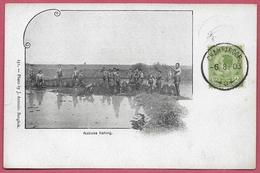 Siam Thailand_Natives Fishing_1903_n°131_Photo By J. Antonio. Bangkok_Old Vintage CPA_Collection - Thaïlande