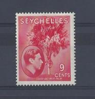 SEYCHELLES.....KING GEORGE VI.(1936-52)..9c....SG138......(CAT £18.).....MH.. - Seychelles (...-1976)