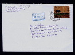 RARE Cover Portugal Cork Veneer Cortiça Industry Coorporate Adhesives Stamps Sp4224 - Other