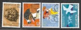 Switzerland,  Scott 2018 # 740-743,  Issued 1983,  Set Of 4,  MNH,  Cat $ 4.90 - Switzerland