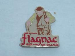Pin's VILLAGE DE FLAGNAC, AVEYRON - Villes