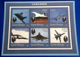 Guinée Bissau  2001 Concorde Charles De GAULLE Imperf  MNH - De Gaulle (Général)