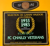 11417 -  1933 - 1983 50 Ans FC Chailly Vétérans Suisse - Soccer