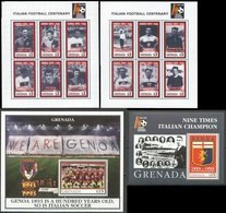 Soccer Football Grenada KB 2643/54 + Bl 347/48 1993 FC Genoa MNH ** - Famous Clubs