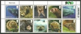 GB 2010 MAMMALS WHALES BATS CAT HEDGEHOG OTTER VOLE DORMOUSE SET MNH - Unused Stamps