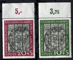 Allemagne, RFA N°25/26 ; Bundesrepublick Deutschland Michel N°139/40 , Qualité Superbe - Oblitérés