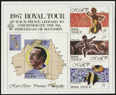 AUSTRALIA HUTT RIVER PROVINCE 1987 Royal Tour Fish Fishes Animals Fauna MNH - Fische