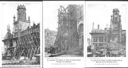 Schaerbeek - Lot 3 Cartes Incendie Hôtel De Ville 1911 - Schaarbeek - Schaerbeek
