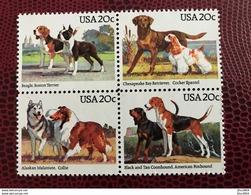 USA 1984 4 V Neuf ** MNH Mi 1708 A 1711 Dog Of United States - Chiens