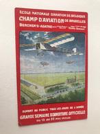Bruxelles Berchem-Sainte-Agathe Champ D'Aviation De Bruxelles Ecole Nationale D'Aviation AVION AVIATION - St-Agatha-Berchem - Berchem-Ste-Agathe