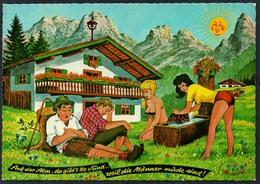 C7206 - Scherzkarte Humor - Erotik Alpen Berghütte - Humor