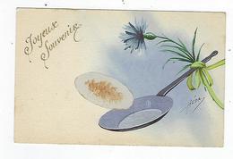 CPA Joyeux Souvenir - Poele à Crèpes - Illustrateur Héda - Illustrateurs & Photographes