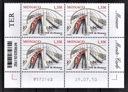 MONACO 2010  - BLOC DE 4 TP / Y.T. 2753 - NEUFS ** COINS DE FEUILLE / DATE - Monaco