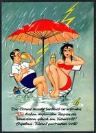 C7207 - Scherzkarte Humor - Erotik - Regen Blitz Bikini - Schöning - Humor