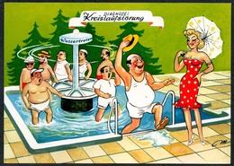 C7208 - Scherzkarte Humor - Erotik - Bad Kur Kurbad - Humor