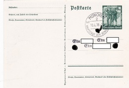 Entier Illustré 10.04.1937 Avec Cachet De Propagande - Deutschland