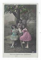 CPA - Carte Photo - Fillette - Enfant - Pommier -  Nous Nous Reposons Pour Recommencer - Scene & Paesaggi
