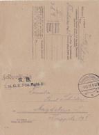 Entier Carte/lettre Feldpost 04.10.1918 - Deutschland