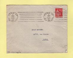 RBV - Paris 42 - Rue Balzac - 6 Lignes Droites Inegales - 1937 - Marcophilie (Lettres)