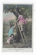CPA - Carte Photo - Fillette - Enfant - Pommier -  échelle - Encore ! Encore ! Et Plus Vite... - Scene & Paesaggi