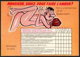 C7217 - TOP Scherzkarte Humor - Erotik - Serie Test Hommes - Humor