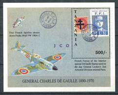 250 TANZANIE 1992 - Yvert BF 150 - General De Gaulle FFI MNL Avion - Neuf ** (MNH) Sans Charniere - Tanzania (1964-...)