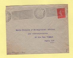Krag - Paris 81 - R. Des Capucines - 7 Lignes Droites Egales + Bloc Dateur 4 Lignes - 1929 - Postmark Collection (Covers)