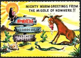C7219 - TOP Scherzkarte Humor - Pferd Schlange Geier Wüste - Humor