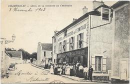 91 - CHAMPROSAY - Hôtel De La Descente De L'Ermitage. Belle Animation, Circulé En 1903. BE. - Hotels & Restaurants