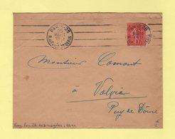 Krag - Paris 25 - R. Du Faubg St Denis - 4 Lignes Droites Inegales + Bloc Dateur 4 Lignes - 1927 - Marcophilie (Lettres)