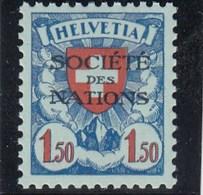 Suisse - 1924/37 - Neuf** - N° YT 59a - SDN Armoiries - Papier Gaufré - Servizio