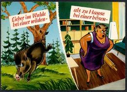 C7222 - Scherzkarte Humor - Wildschwein Wildsau Eber - Humor