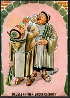 C7224 - Paul Keller Scherzkarte Humor - Mönch Mönche Wein - Humor