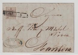 Lombardei & Venetien: Brief Mit 4X Von Milano Nach Mantova - Levante-Marken