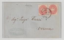 Lombardei & Venetien: Brief Mit ;MeF Nr. 21 Von Venedig Nach Verona, 1866 - Levante-Marken