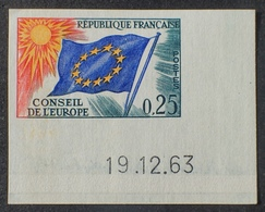 R1591/405 - 1963 - CONSEIL DE L'EUROPE  N°29 NEUF** ND CdF Daté - Cote : 55,00 € - Non Dentellati